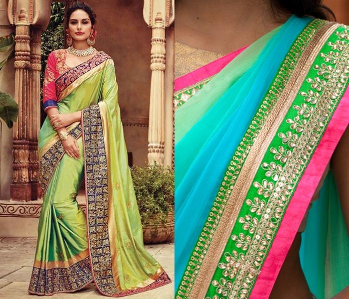how to make designer saree from old saree