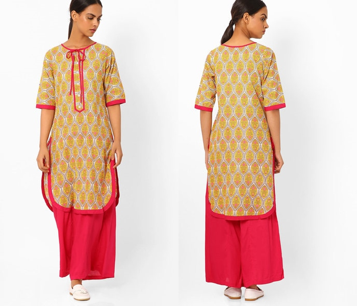 how to wear indian palazzo with kurtha