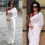 This Celebrity Nailed The Retro Look With Simple White Saree!