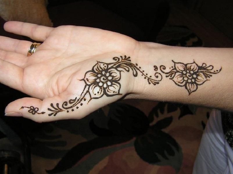 Mehendi Designs for Left Hand Palm