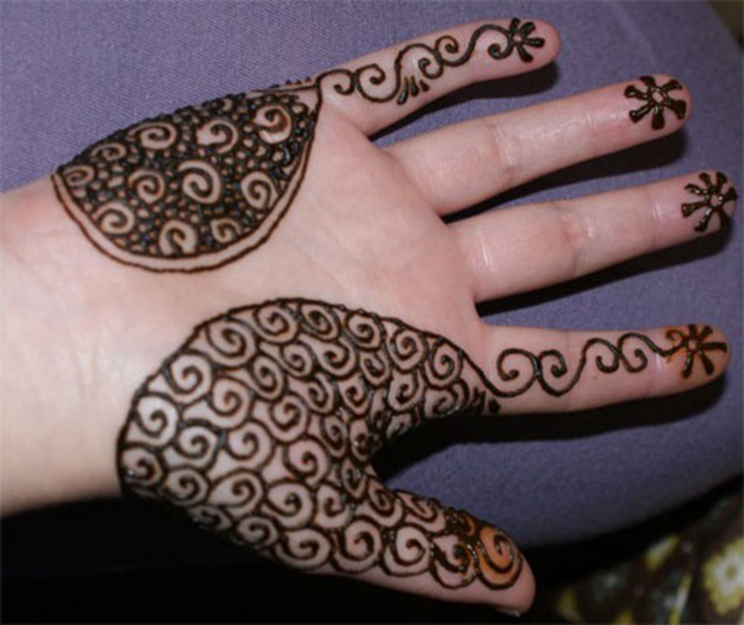 Mehendi Designs for Left Hand Palm