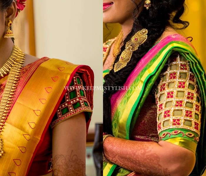 Traditional Blouse Designs For Silk Sarees
