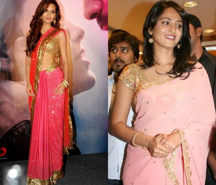 Pink Saree Blouse Designs