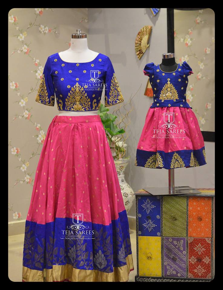 Indian Ethnic Traditional Mother Daughter Outfit