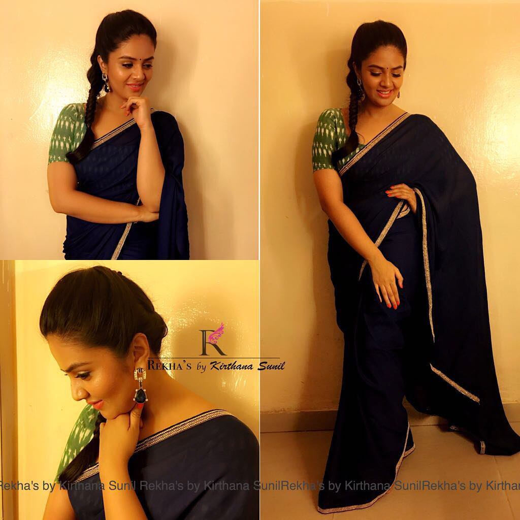 Plain Sarees With Designer Blouse Designs