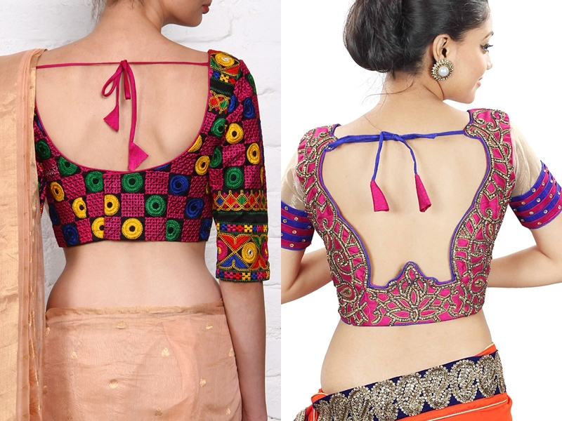 Back Knot Blouse Designs