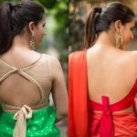 Want To Look Stylish in Saree? Try Back Knot Blouse Designs!