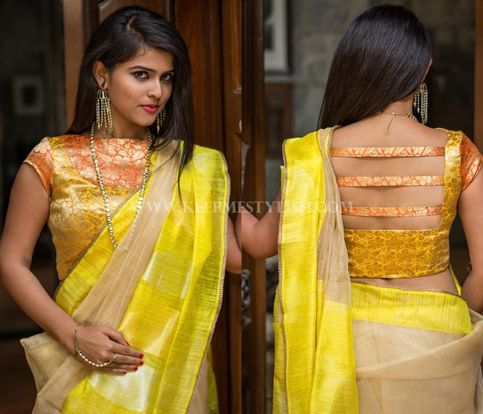 13 new blouse back neck designs for pattu sarees � keep me