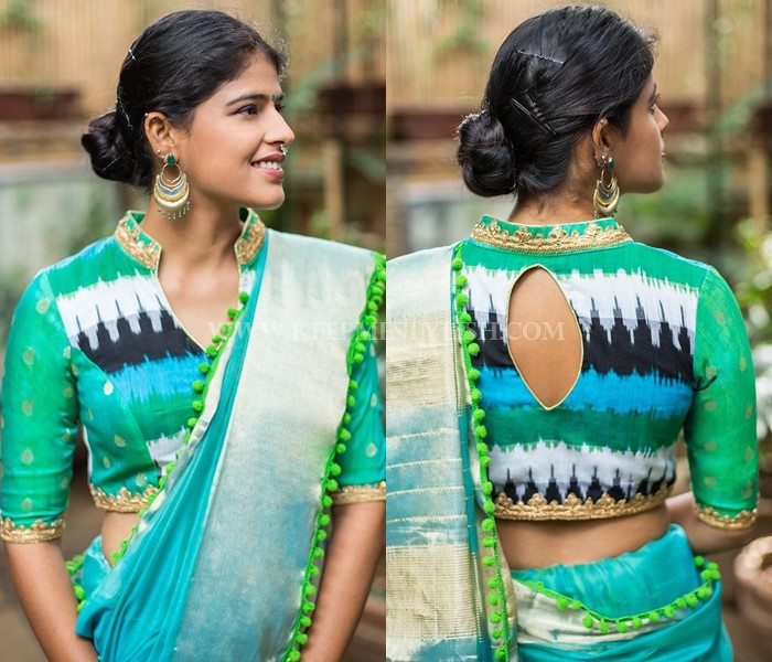 Stand Collar Blouse Designs : New blouse back neck designs for pattu sarees u keep me stylish
