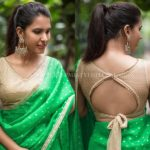 13 New Blouse Back Neck Designs For Pattu Sarees