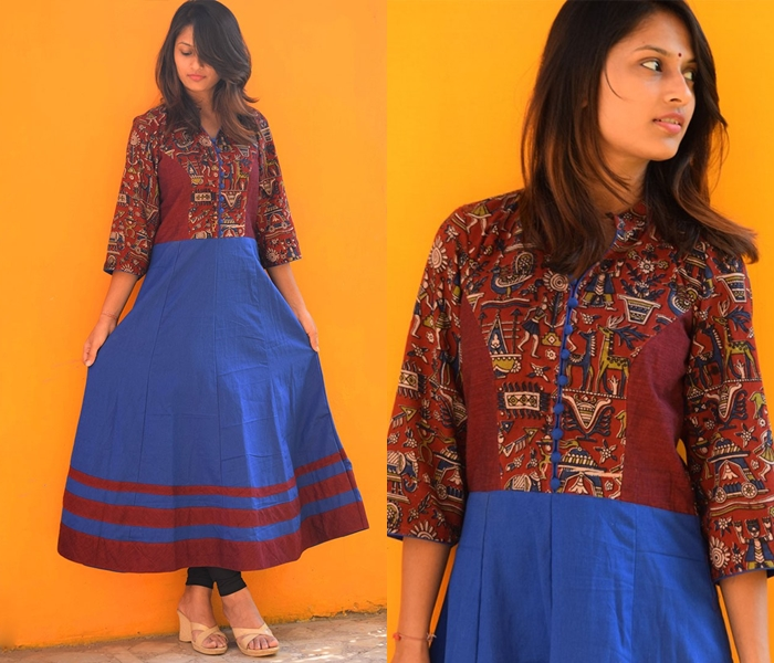 Churidhar Neck Designs With Piping
