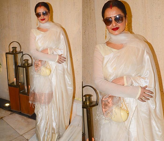 rekha saree style