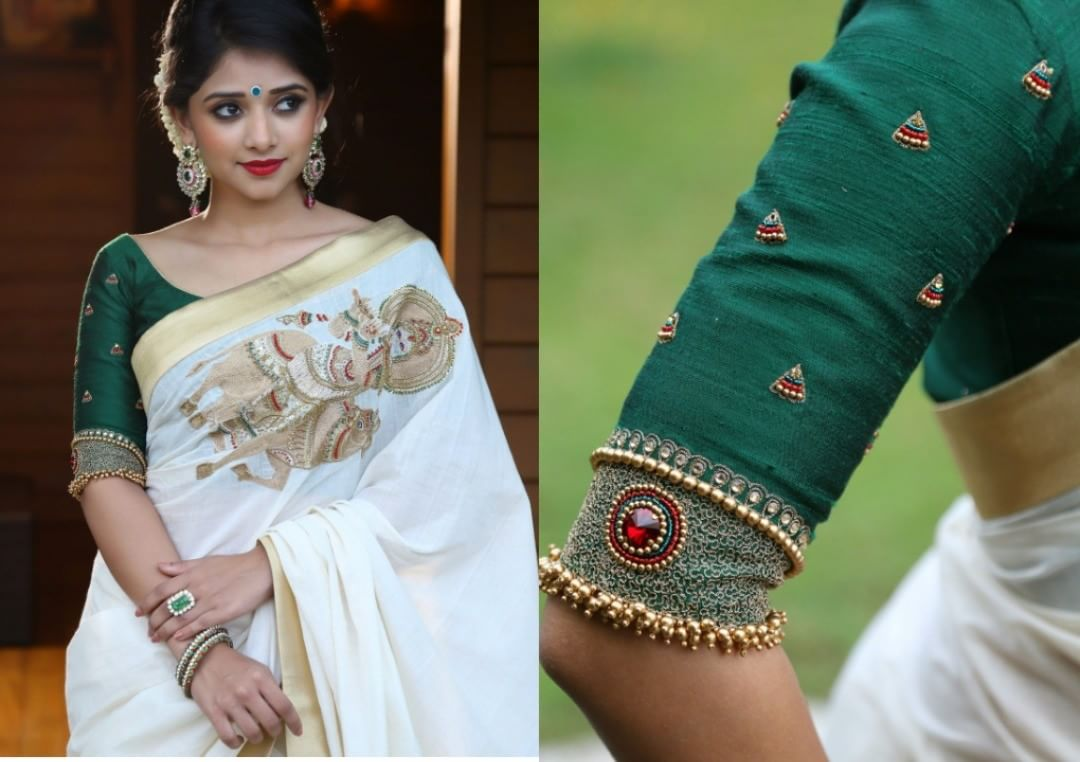 What Color Blouse To Wear With White Saree
