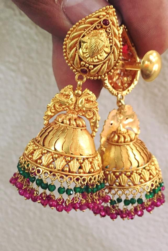 Temple Jewellery Jhumka Designs