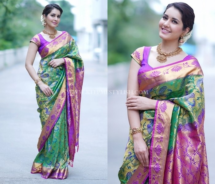 Celebrity Silk Saree Style