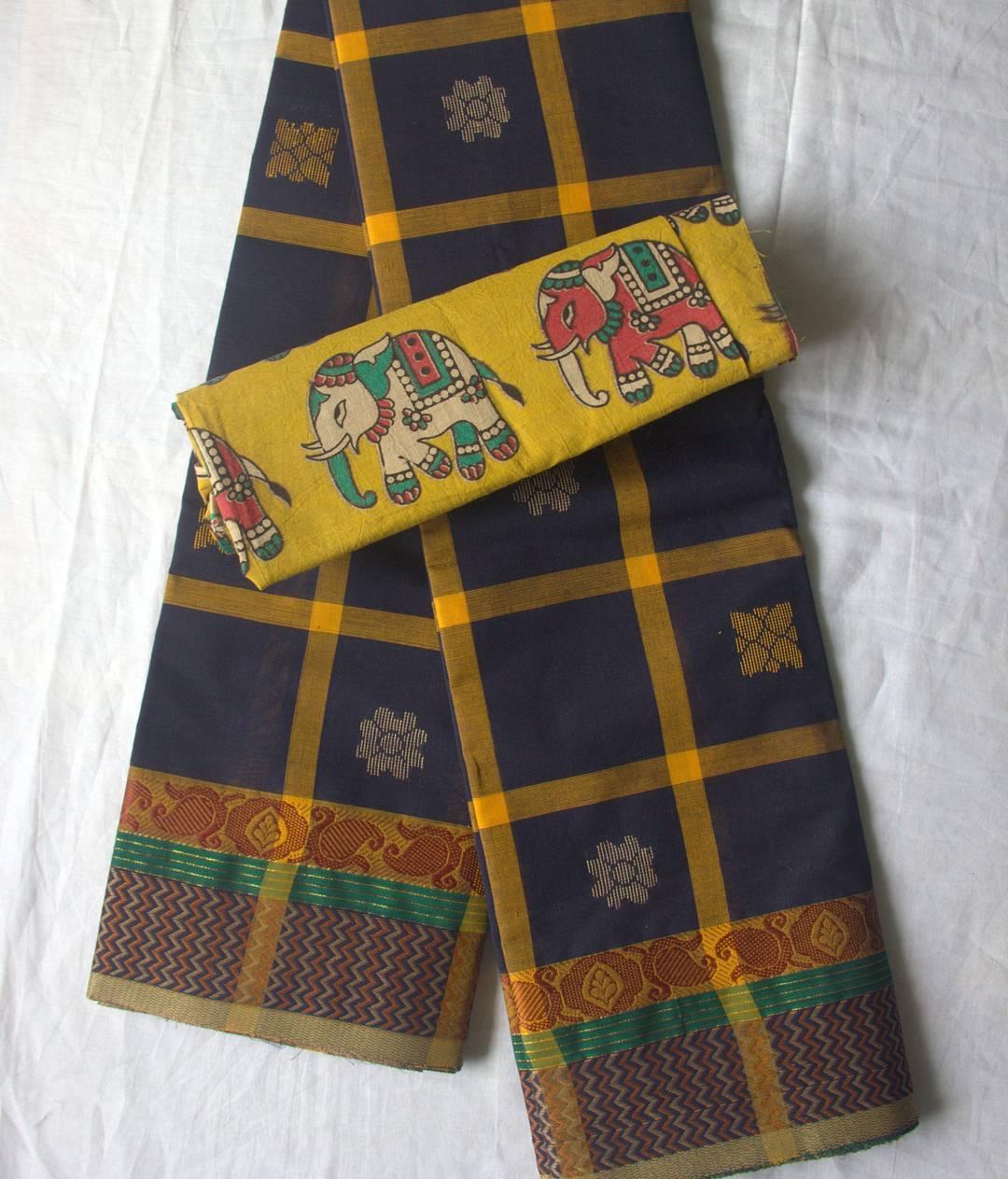 Cotton Sarees And Kalamkari Blouses