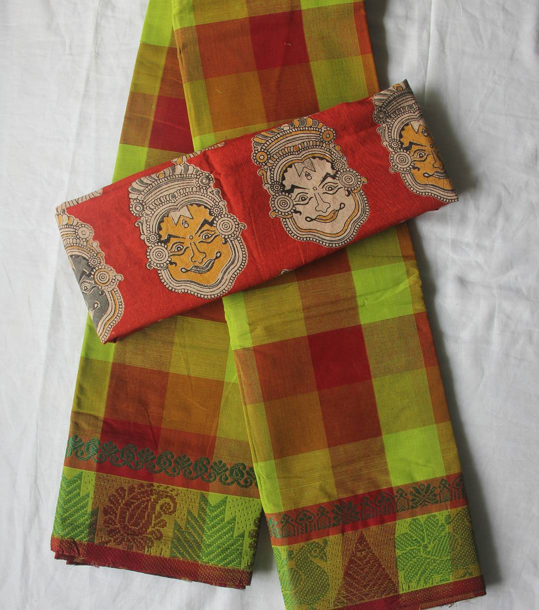 Cotton Sarees And Kalamkari Blouses