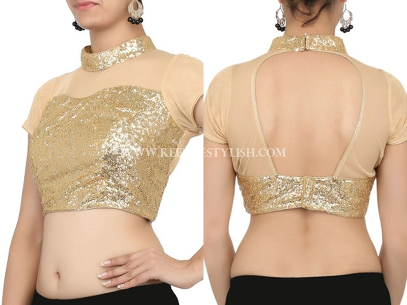 Gold Blouse Designs For Sarees