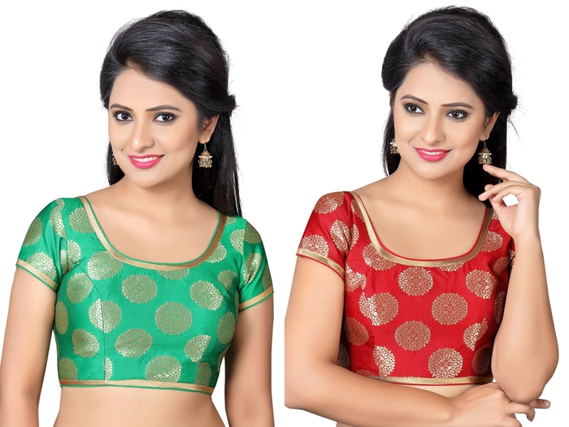 Plain Sarees With Brocade Blouses