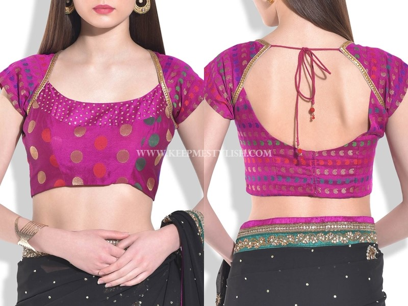 Simple Blouse Designs for Silk Sarees