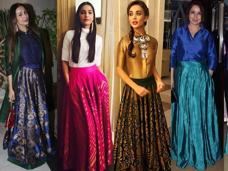 Indian Long Ethnic Skirts and Tops