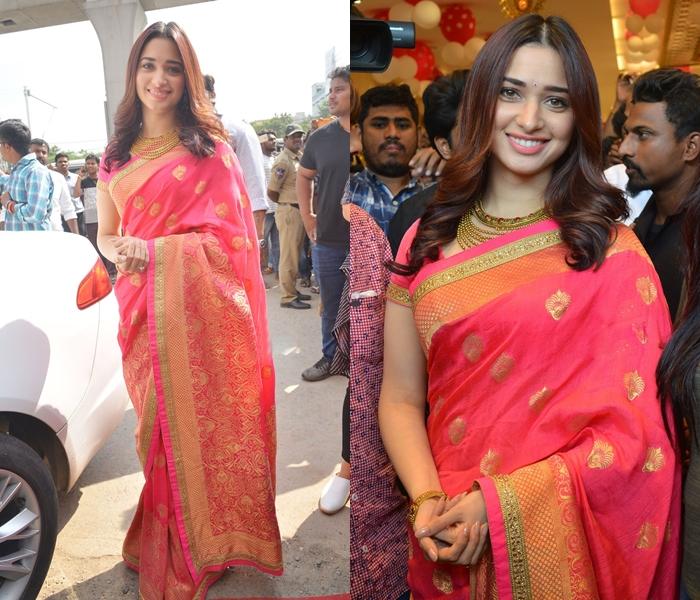 Tamannaah Saree Look