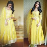 Can Someone Look So Pretty on a Bright Yellow Anarkali Suit?