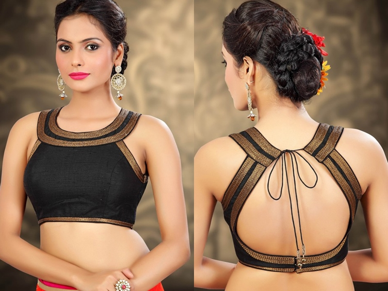 30 Ultra Cool Black Blouse Designs For Sarees Keep Me Stylish