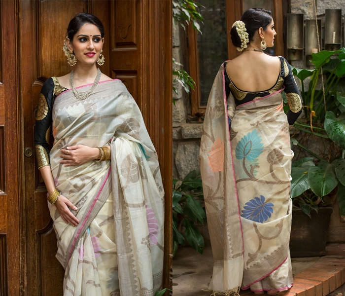 dafdeed03f 30+ Ultra Cool Black Blouse Designs For Sarees • Keep Me Stylish