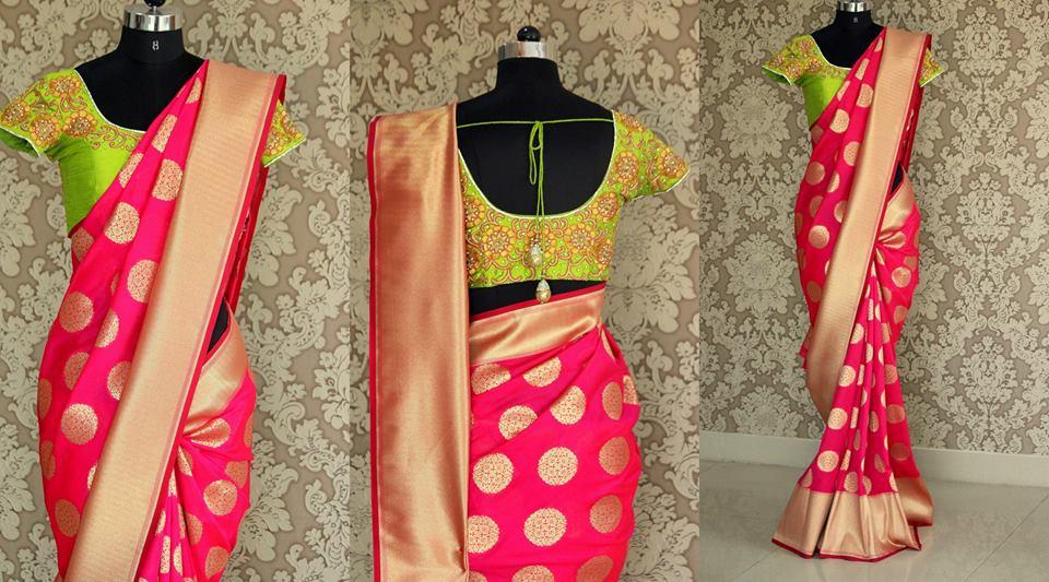 Blouse back neck designs for silk sarees