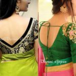 30+ Trendy Blouse Back Neck Designs For Silk Sarees