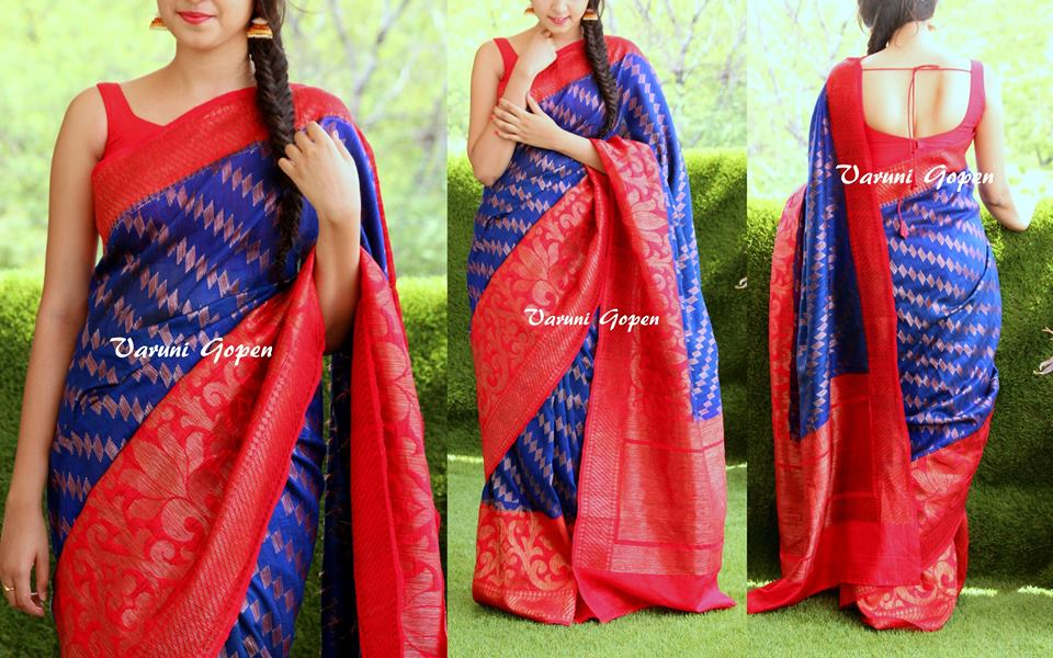 Blouse back neck designs for silk sarees