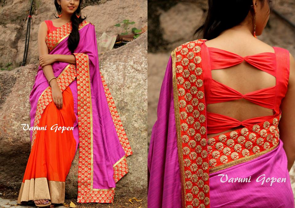 30 trendy blouse back neck designs for silk sarees keep me stylish