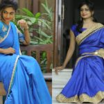 21 Pretty Blue Blouse Designs & What Saree to Wear With