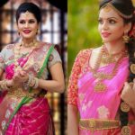 21 Best Contrasting Blouses for Pink Silk Sarees