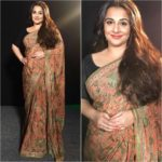 How Vidya Balan Styles The Black Blouse With 4 Sarees!