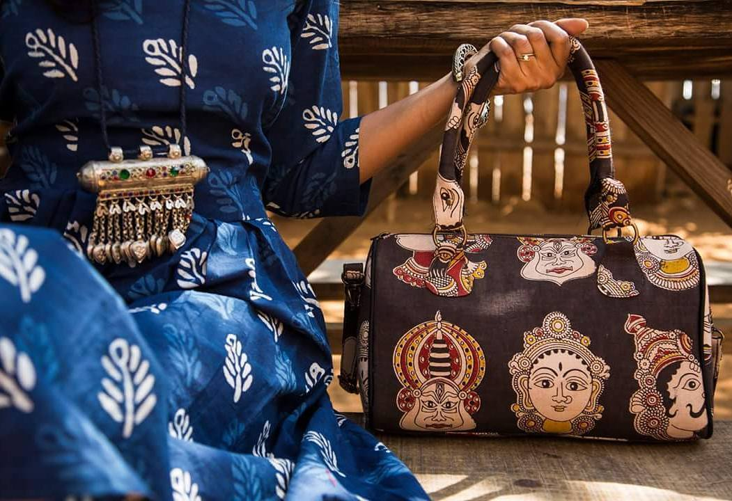 Kalamkari and Ikkat Handbags