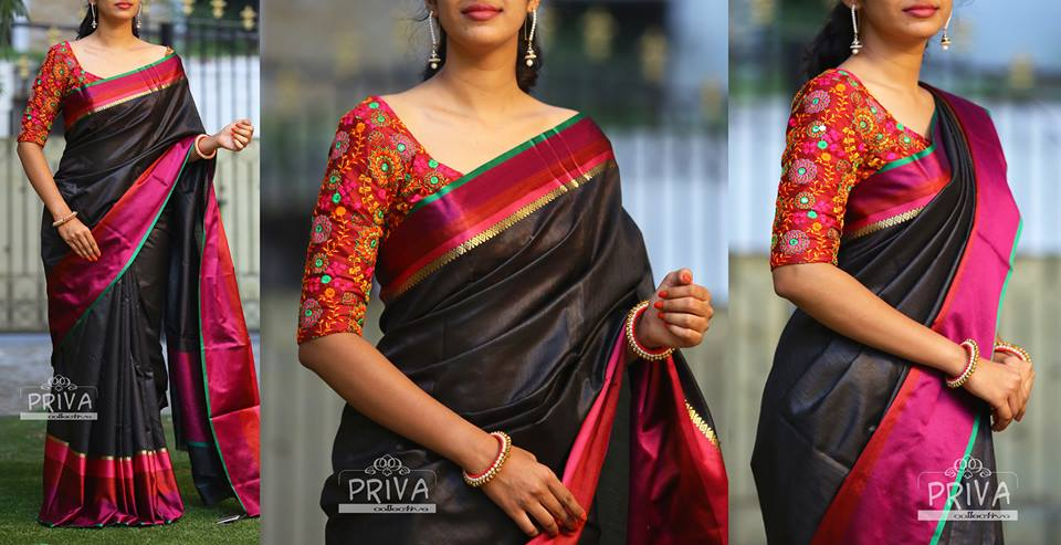 Saree Blouse Sleeve Designs