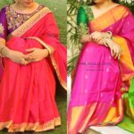 10 Pretty Blouse Colors To Try With Pink Silk Sarees