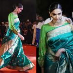 Here is an Unexpected Way to Style Green Silk Saree