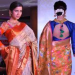 11 Pretty Full Sleeve Blouse Designs for Silk Sarees