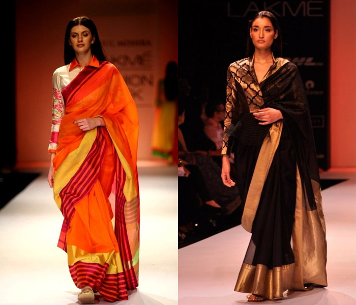 Full Sleeve Blouse Designs For Silk Sarees