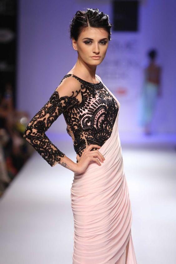 Full Sleeve Net Blouse Designs