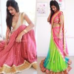21 Half Saree Color Combinations That You Didn't Think of Earlier
