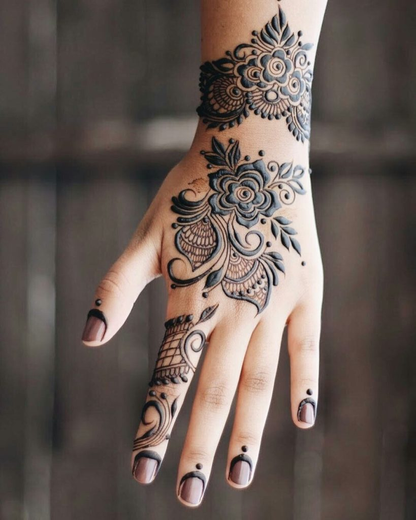 Flower Wali Mehndi : Simple easy henna flower designs of all time keep