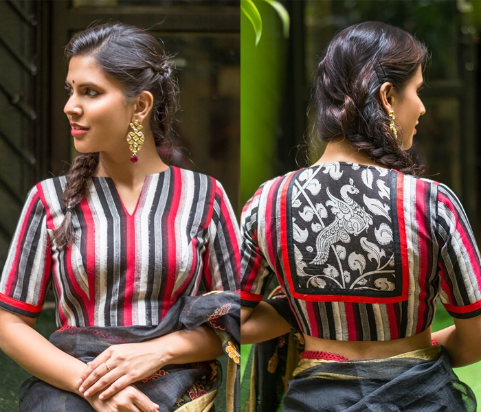 ikat blouse designs