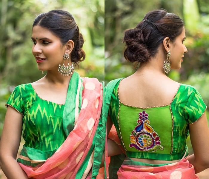 ikat blouse designs