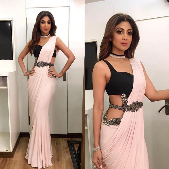 Shilpa Shetty Saree Style
