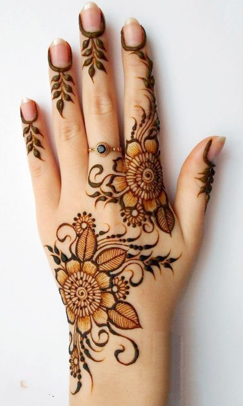 30 simple amp easy henna flower designs of all time � keep