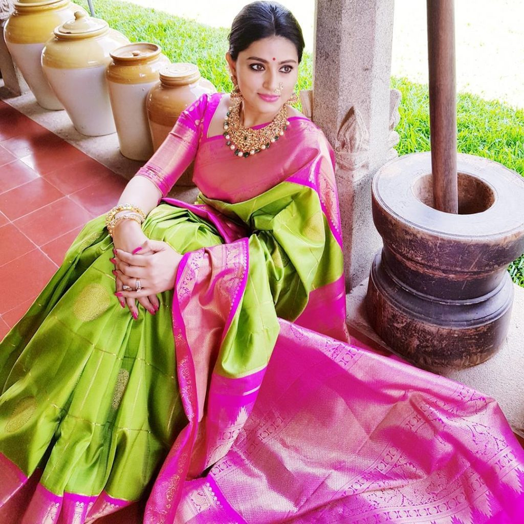 Sneha Green Silk Saree
